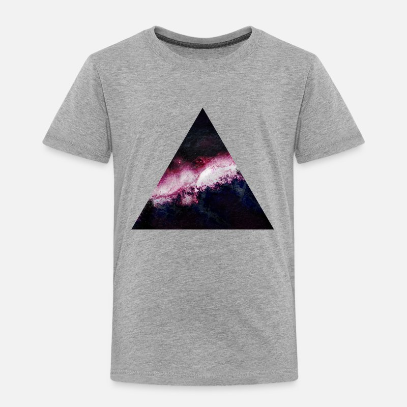 Galaxy T-Shirts - triangle galaxy - Kids' Premium T-Shirt heather grey