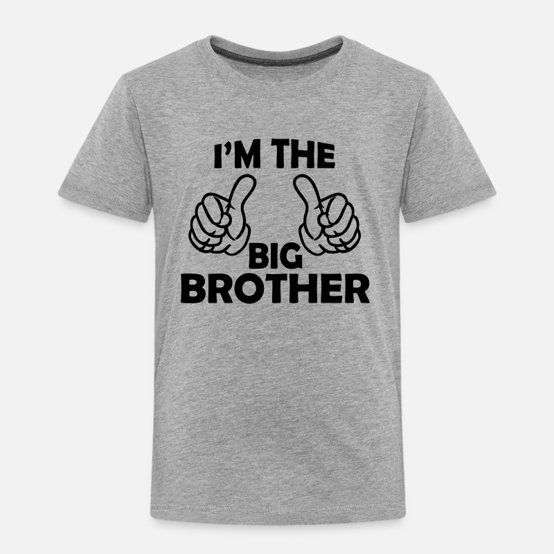 Big Brother T-Shirts - i am the big brother - Kids' Premium T-Shirt heather grey