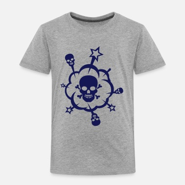Edgy Bubble skull star nervous edgy - Kids' Premium T-Shirt