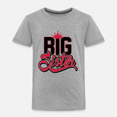 Big Sister Funny Big sister - big sister - pregnant are - Kids' Premium T-Shirt