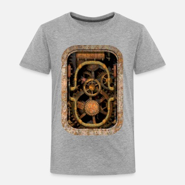 Steam Punk Rusty and Grungy Steampunk Machinery T-Shirt - Premium T-skjorte for barn