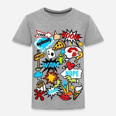 Comic Comic Book Style, comics, funny, boom, patches - Kids' Premium T-Shirt