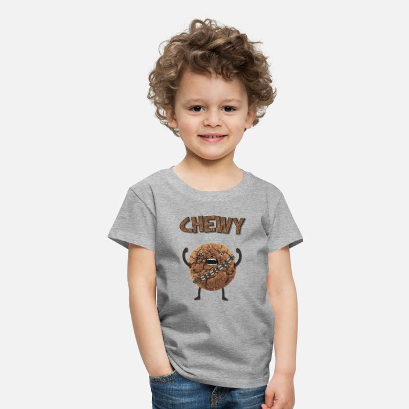 Geek T-Shirts -  Funny Nerd Humor - Chewy Chocolate Cookie Wookiee - Kids' Premium T-Shirt heather grey