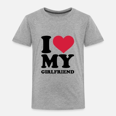 I Love My Girlfriend I love my girlfriend - Kinder Premium T-Shirt