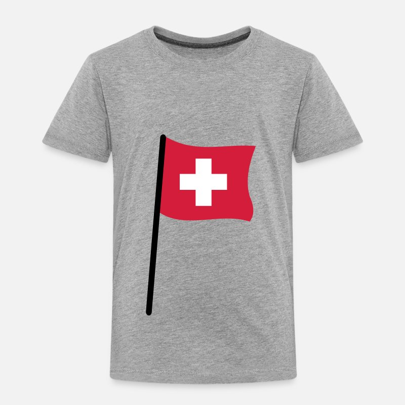 Swiss T-Shirts - Swiss flag - Kids' Premium T-Shirt heather grey