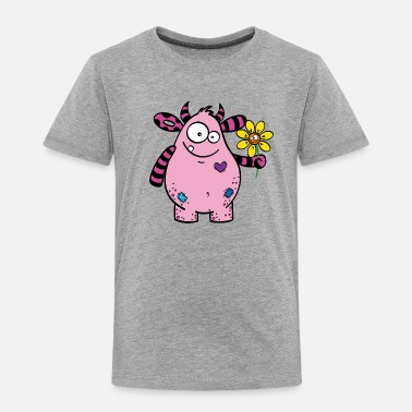 Grummelig Monster Oskar - Kinder Premium T-Shirt