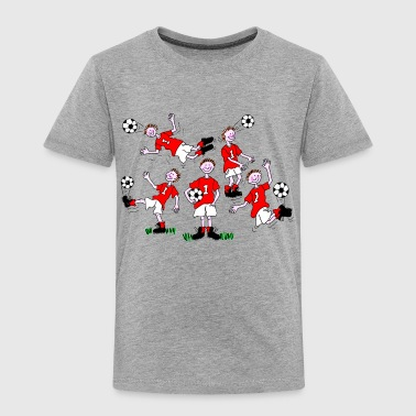 Cartoon Football Player - Kids' Premium T-Shirt