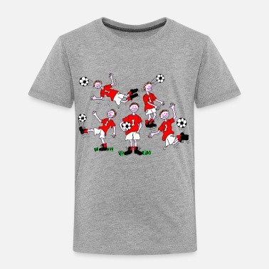 Cartoon Football Cartoon Football Player - Kids' Premium T-Shirt