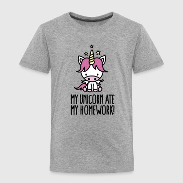 My unicorn ate my homework - kids - Kinderen Premium T-shirt