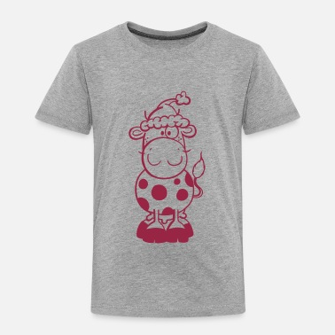 Cow Comic Christmas Kuh - Cow - Weihnachten - Comic - Kinder Premium T-Shirt