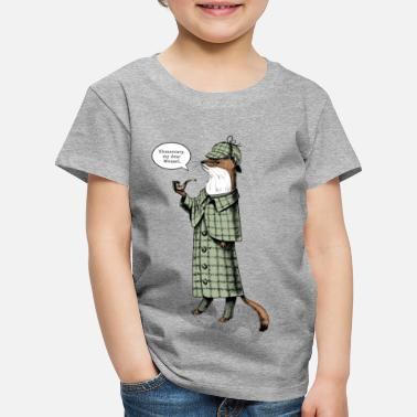 Belette Stoat Detective - quote - T-shirt Premium Enfant