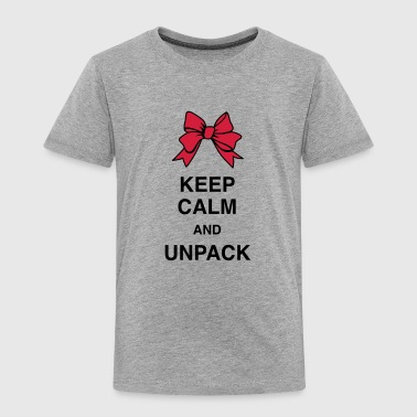 Keep Calm and unpack - Kinder Premium T-Shirt