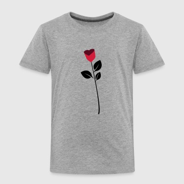Rose, flower, heart - Kinder Premium T-Shirt