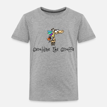 Phonics Geraldine the Giraffe Grey T-Shirt - Kids' Premium T-Shirt
