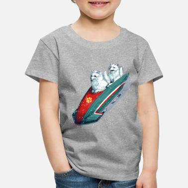 Arctic Fox Bobsleigh - Kids' Premium T-Shirt