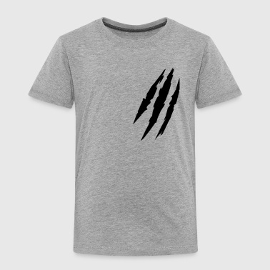 Claw Marks Beast animal scratches claw marks blood scars - Kids' Premium T-Shirt