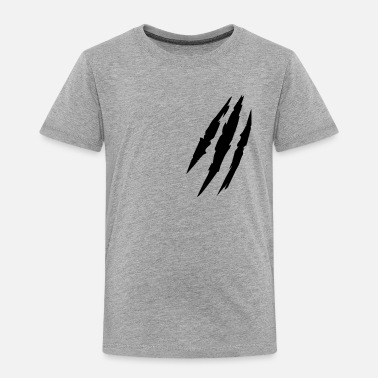 Animal Claw Beast animal scratches claw marks blood scars - Kids' Premium T-Shirt