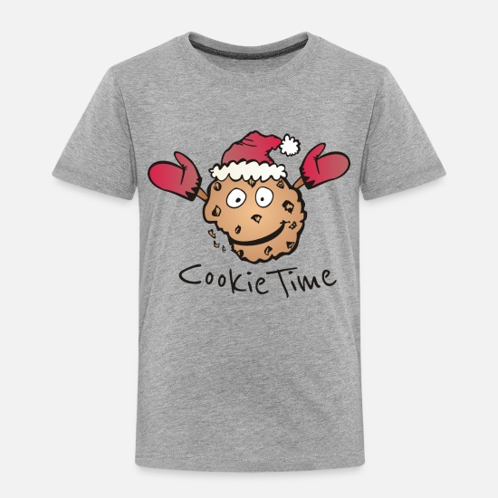 Cookie T-Shirts - Christmas Cookie Time - Kids' Premium T-Shirt heather grey
