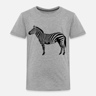 Zebra Zebra wildlife wilderness nature striped - Kids' Premium T-Shirt