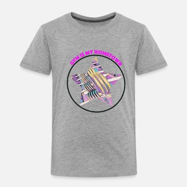 Fitnesstrainer Gym is my Hometown - Fitness / pink - Kinder Premium T-Shirt
