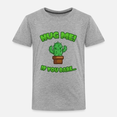 Negative Cactus Hug Plants Cuddle Saying Funny Cute Cool - Kids' Premium T-Shirt