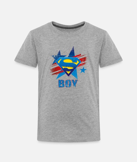 Clark Kent T-shirts - Superman S-Shield Boy T-shirt barn - Premium T-shirt barn gråmelerad