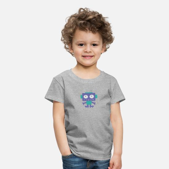 Cute T-Shirts - Cute Little Robot - Kids' Premium T-Shirt heather grey