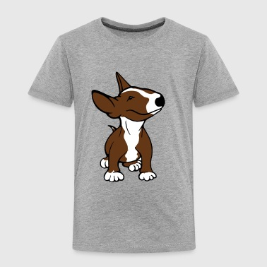 Bull Terrier Pup Brown - Kids' Premium T-Shirt