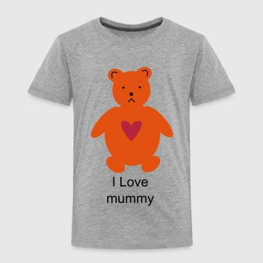 I love Mummy Teddy - Kids' Premium T-Shirt
