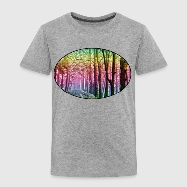 Nature - Rainbow - Forest - Park - Rural - Trees - Kids' Premium T-Shirt