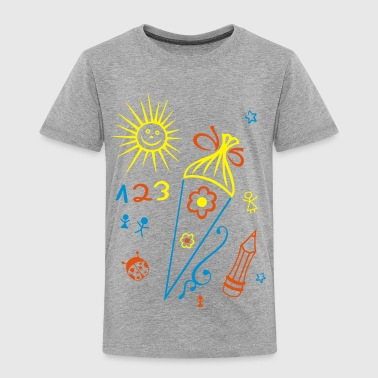 Schule, Schulanfang, Kinder, back to school - Kinder Premium T-Shirt