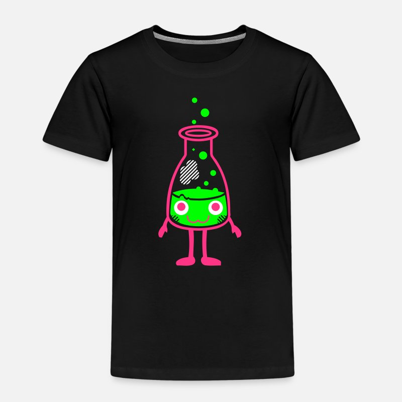 Art T-Shirts - Kawaii-Designs: Erlenmeyerkolben - Kids' Premium T-Shirt black