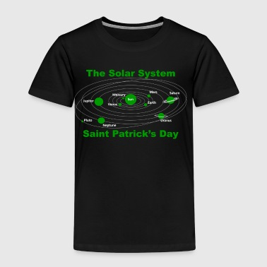 Solar system turned green on Saint Patricks Day - Kids' Premium T-Shirt