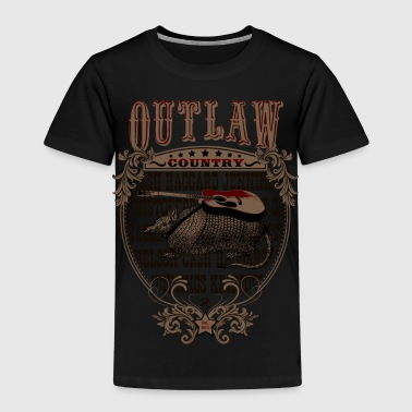 Outlaw Country Americana (Armadillo with guitar) - Kids' Premium T-Shirt