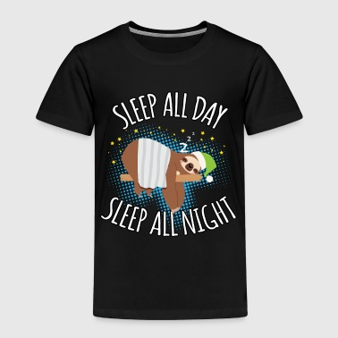 Sleep All Day Sleep All Night - Faules Faultier - Kinder Premium T-Shirt
