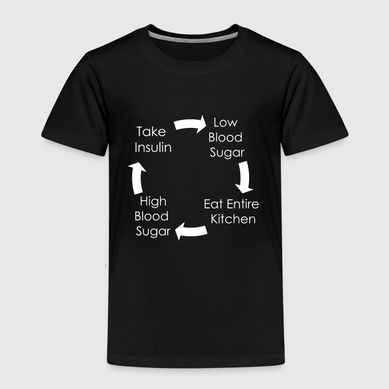 Cycle of Type 1 Diabetes - White - Kids' Premium T-Shirt