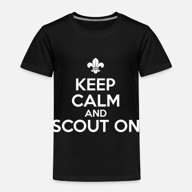 Boy Scout Camicia Keep calm and scout on - Maglietta Premium per bambini