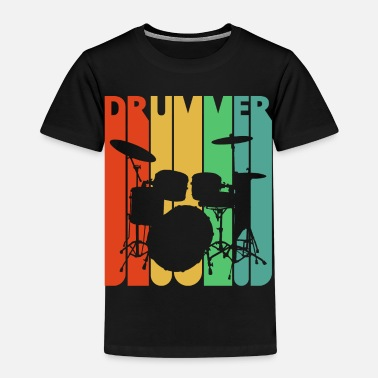 Drummer Vintage Retro Drummer. Drumming Kit. Rock 'N' Roll - Kids' Premium T-Shirt