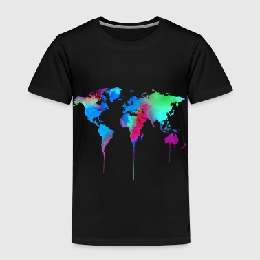 World Map World Akvarell Akvarell Akvarell - Premium T-skjorte for barn
