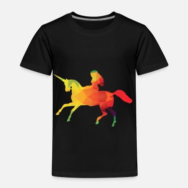 Multi Colorful Unicorn - Kids' Premium T-Shirt
