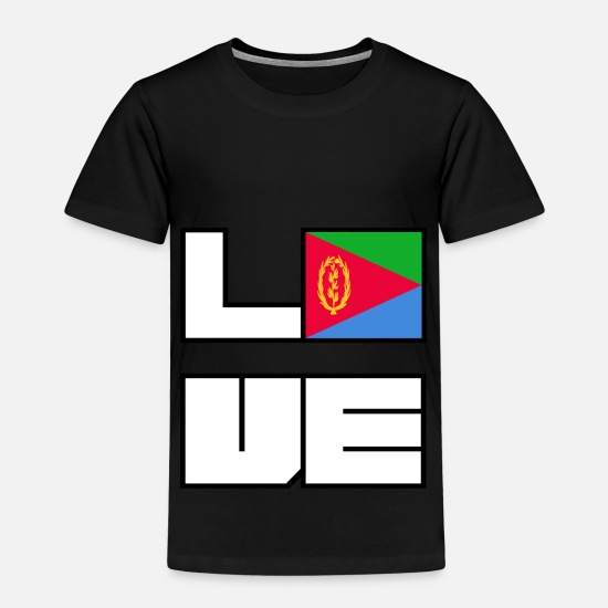Eu T-Shirts - Love home roots Roots Eritrea - Kids' Premium T-Shirt black