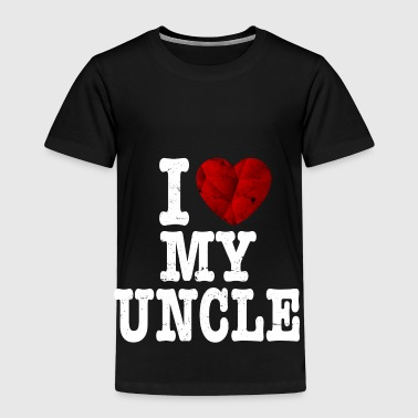 I Love My Uncle I love my uncle t shirt gift heart love - Kids' Premium T-Shirt