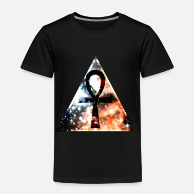 Ankh Hipster triangle with Ankh-mark - Kids' Premium T-Shirt