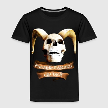 devil_skull_rock_n_roll_042014_c - Kinder Premium T-Shirt