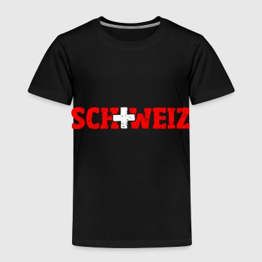 Switzerland lettering with cross red-white - Kids' Premium T-Shirt