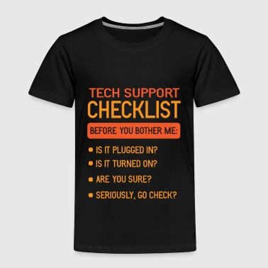 Admin Teknisk support Checklista IT Hotline PC Admin - Premium-T-shirt barn