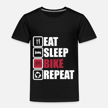 eat sleep bike repeat cycling shirt - Maglietta Premium per bambini