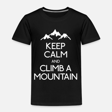 Bewaar De Rust Keep calm and climb a mountain - Kinderen Premium T-shirt