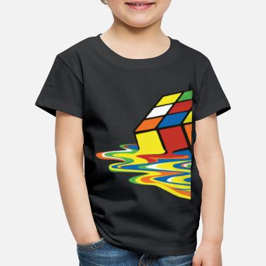 Officialbrands Melting Rubiks Cube - Kinder Premium T-Shirt