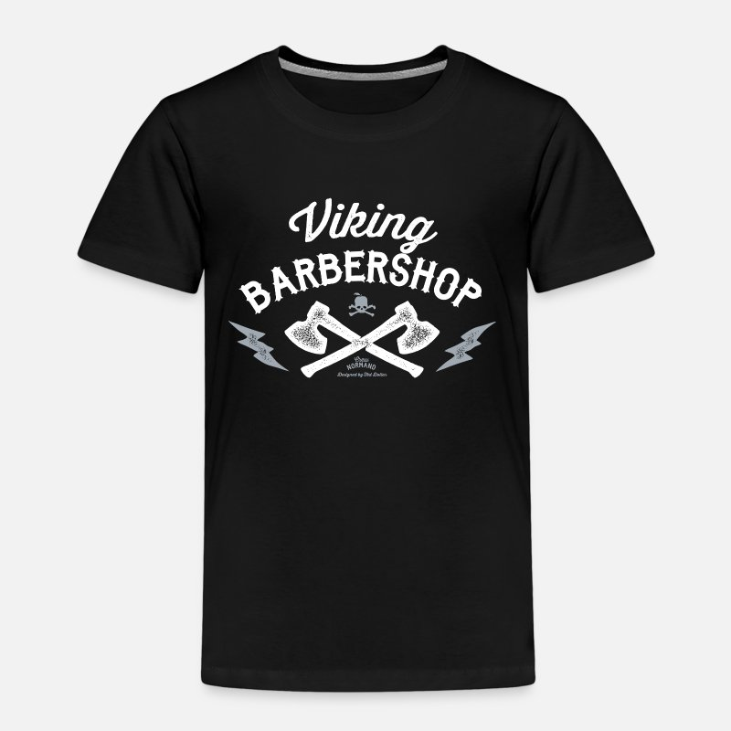 Viking T-shirts - Viking Barbershop - T-shirt premium Enfant noir